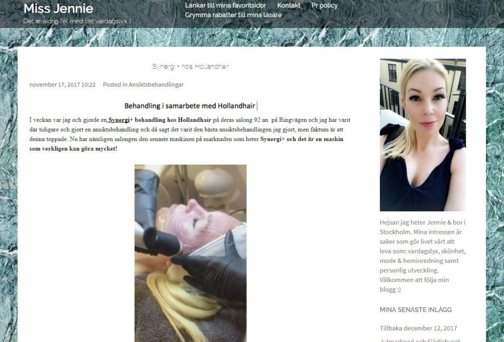 synergi miss jennie blogg